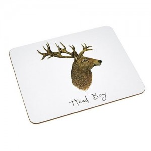 "Placemat Stag ""Head Boy"""