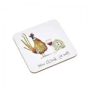 "Coaster Pheasant ""Wine O'Clock"" at last"