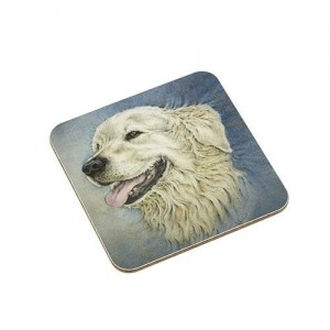 Coaster Golden Retriever Dog
