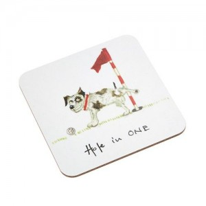 "Coaster Jack Russell Dog ""Hole in One"""