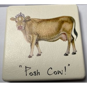 "Compact Mirror """"Posh Cow"