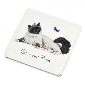 "Compact Mirror ""Glamour Puss"""