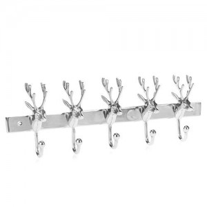 Stag Polished Aluminium Wallhook