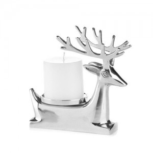 Stag Lying Down Candle Holder with Candle