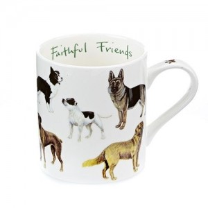 "Dogs ""Faithful Friends"" Fine Bone China Mug"