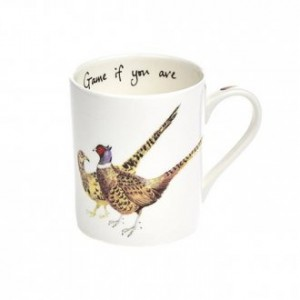 "Pheasant Fine Bone China Mug ""Game if You Are"""