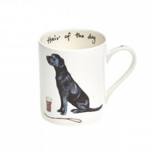 "Black Labrador ""Hair of the Dog""  Fine Bone China Mug"