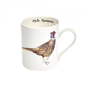 "Pheasant Fine Bone China Mug ""Hello Handsome"""