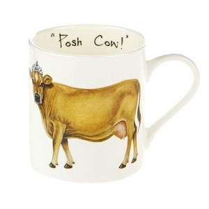 "Fine Bone China Mug ""Posh Cow"""