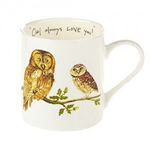 "Fine Bone China Mug ""Owl Always Love You"""