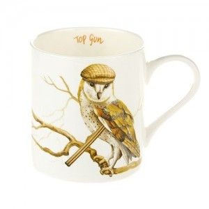 "Fine Bone China Mug ""Top Gun"" Owl"