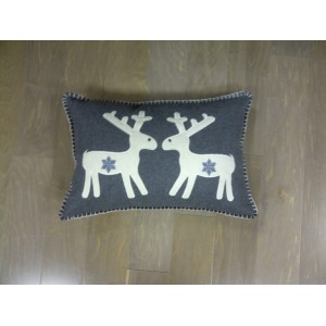 Reindeer Cushion Grey